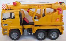 BRUDER MAN Tele-Crane TC 4500 Truck Lorry Construction Vehicle Winch Hook Yellow