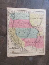 1853 ORIGINAL Map of California, Washington, Oregon New Mexico Utah