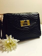 Versace Parfums BlackWristlet Tote Clutch Bag Evening Travel Purse NEW!