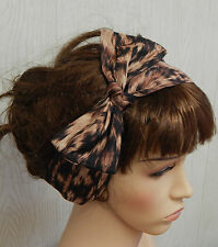 Tie up hair scarf, retro headband, 50's head wear, self tie head wrap, hair band