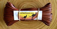 """Kangaroo Lace WHISKEY Kangaroo Leather Lacing 6mm (1/4"""") Wdth 10meter hank"""