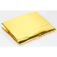 "Gold Heat Reflecting Tape - 39""x 47"" Sheet - High-Temp Heat Shield Barrier Sheet"