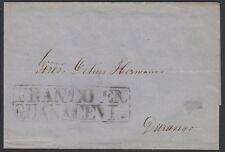 "MEXICO, 1868. Cover ""Sello Negro"", Guanacevi - Durango"