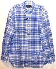 Polo Ralph Lauren Big and Tall Mens Blue Plaid Button-Front Shirt NWT 2XLT