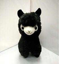 New Alpacasso Black Alpaca Plush Amuse Arpakasso Fluffy Toy Gift 35cm