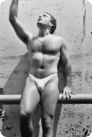 MALE SWIMSUIT MODEL—Self-portrait Photo Magnet—Sexy Men's Bikini Pose by PABLO