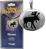 ANIMAL SPIRIT GUIDE TOTEM AMULET PEWTER PENDANT + STORY CARD & CORD  U.S. MADE