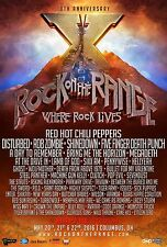 ROCK ON THE RANGE 2016 CONCERT TOUR POSTER - Red Hot Chili Peppers, Disturbed