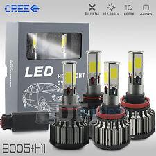 9005+H11 Combo 240W 24000LM CREE LED Headlight Kit High & Low Beam Light Bulbs