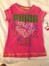 "Pink ""Girls Rock"" PUMA T-shirt - Size 2T (NWT)"