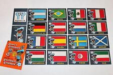 Panini Jean 's football wm Argentina 78 1978-Complete set set 48 pc.