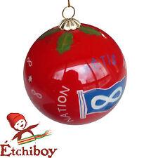 Metis Nation Christmas Bulb Red Boule De Noël Rouge Nation Métisse Étchiboy