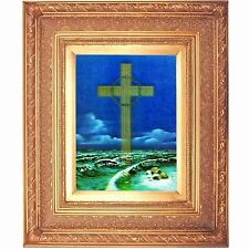 Golden Leaf Frame  10x13 in Christian Exodus Cross Over Ocean #PKF-275-PI-BRENO#