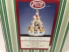 San Francisco Music Box Company Christmas Cat Tree We Wish You a Merry Christmas