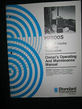 Standard HX500S VHF FM Marine Handheld Transceiver Owner's Operating Manual