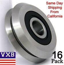 """Lot of 16 RM2-2RS ID 3/8"""" inch V Groove CNC Guide Way Rubber Sealed Ball Bearing"""