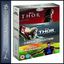 THOR - 3 MOVIE COLLECTION - THOR, THE DARK WORLD & RAGNAROK *NEW-REGION FREE*