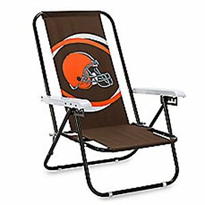New Cleveland Browns NFL Beach Folding Chair, Football, Brown and Orange