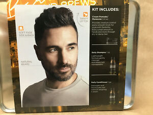 REDKEN BREWS FOR MEN Smooth it Out Grooming Set   Maneuver, Shampoo, Conditioner