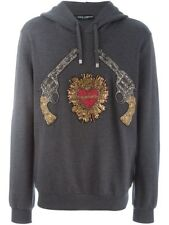 New Dolce & Gabbana Sacred Heart Gun Patch Hoodie Size 50/M $4545.00 *Sold Out*
