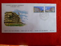 1966 SURINAME  OPENING OF CENTRAL HOSPITAL 2 STAMPS  FDC 19TH MARCH