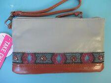 THE SAK Sanibel Charging Wristlet Wallet Bag LEATHER $89 RV Phone Battery Mint