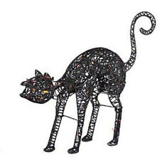 """Kurt Adler 50 Lights 32"""" HALLOWEEN Indoor Outdoor ANIMATED BLACK CAT HW1276 NEW!"""