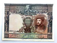 Spain-Billete. Carlos I. 1000 Pesetas 1925. Casi EBC+/XF+. Bello.