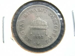 HUNGARY 20 Filler KB 1893 Nice 148# Money Coin