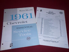 1961 CHEVROLET KENT-MOORE SERVICE TOOLS & SUPPLIES CATALOG & ORDER FORM 61 CHEVY