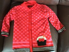 Catimini Fleece Lined Cupcake Cardigan Sweater Girls Size 110 or 4t