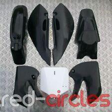 BLACK KLX PIT BIKE PLASTICS SET 110cc 125cc 140cc 160cc PITBIKE