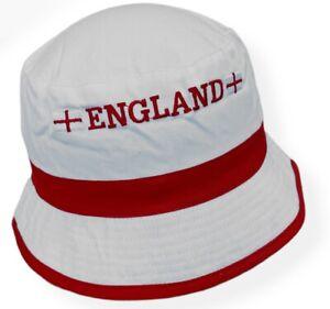 England Football Hat 100% Cotton Bucket Hat Euro 2020 2021 - White