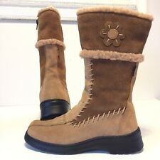 Josef Seibel Tan  Mid Calf Length Women's Suede Boots Uk 4 Brand New No Box.new.