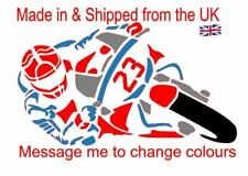 Racing Motorbike 4 colour Decal for your car,van, office, den, toolbox, iPad ect