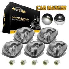 5) Clear Cab Clearance Marker Light+3020 194 WHITE LED Bulb for Dodge 2500 94-98