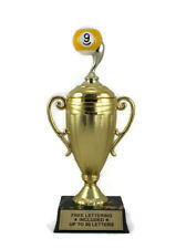 9 Ball Cup Trophy- Pool- Billiards- Mini Cup Series- Free Lettering