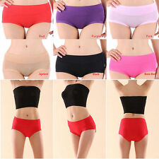 2016 New Bamboo Fiber Antibacterial Women Underpants Briefs Underwear 7 Colors