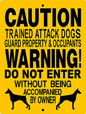 "No Trespassing Sign,Doberman Pinscher Dog Sign, 9""x12"" Aluminum Sign,2665dp"