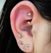 Rook Earrings, Rook Jewelry, Rook Piercing, Eyebrow Ring, Daith Piercing, Curved