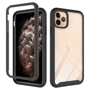 Full Body Clear Hybrid Shockproof 360 Case Cover For iPhone 12 11 Pro SE 7 8 XR