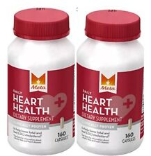 2 Pack Meta Daily Heart Health Dietary Supplement, 160 Capsules Each Exp 12/2017