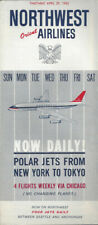Northwest Orient Airlines system timetable 4/29/62 [0112]