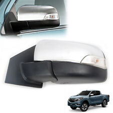 Fits 2014+ MAZDA BT-50 Pro Chrome Electric foldable Side Mirror Pickup Left