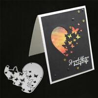 Stanzschablone Herz Schmetterling Hochzeit Weihnachten Geburtstag Karte Album