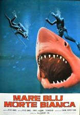 BLUE WATER WHITE DEATH Italian 1F movie poster JAWS SHARK SCUBA 71 NM