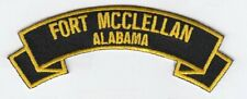 "Fort McClellan 4"" rocker tab embroidered patch"