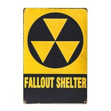 DL DL-Christmas Gifts Fallout Shelter Vintage Look Reproduction Metal tin Sign