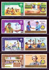 KENYA 1982 BOY & GIRL SCOUTS SET SCOTT 217A,19A,21A,23A