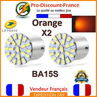 2 x Ampoule 22 LED BA15S 1156 P21W Orange Voiture Clignotants Ampoules